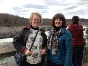 Welmoed Sisson & Karen at Great Falls of the Potomac 2-13