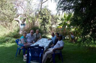 Lunch on final day of trip to Tanzania